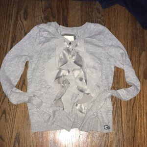 Gilly Hicks grey button cardigan